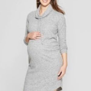 Maternity- Cowl neck sweater dress